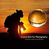 MerryNine Foto Objektiv Ball mit Tasche, K9-Kristall Sonnenfänger Ball mit Mikrofaser-Beutel, Dekorativ und Fotografie Zubehör