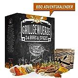 BBQ Grillgewürz-Adventskalender 2018 Weihnachtskalender mit 24 Grill Gewürzspezialitäten Barbecue Kalender Geschenk für Männer