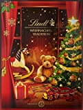 Lindt Weihnachts-Tradition Adventskalender, enthält Mini Chocoladen Figuren, Lindor Kugeln, Fiorettos und unterschiedliche Pralinés, 250g