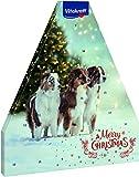 Vitakraft Adventskalender für Hunde, Mit 8 verschiedenen Snacksorten, Weihnachtliches Motiv mit Hunden
