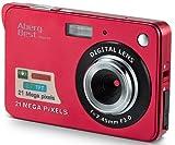 AbergBest 21 Megapixel 2,7'LCD wiederaufladbare HD Digitalkamera Digitale Videokamera Studentenkamera Indoor Outdoor für Erwachsene/Senioren/Kinder (Rot)