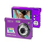 VOXPAN Digitalkamera für Anfänger, 8X Digital Zoom HD Digitalkamera Fotoapparat 21 MP 1080P HD 2,7 Zoll Foto Kompaktkamera Mini-Fotokamera Klein Geschenk für Kinder Jugendliche Student (Violett)