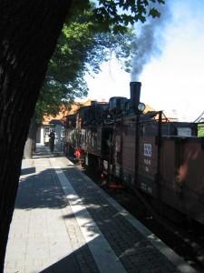 Historischer Zug der Harzer Schmalspurbahnen im Bahnhof Wernigerode