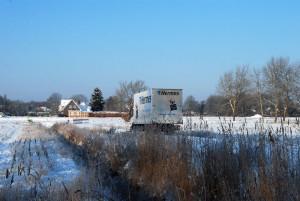 Hermes Paketdienst kämpft sich durch den Schnee