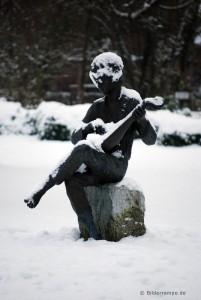 Musiker im Schnee