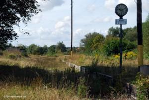 Verlassene Gleise am Bahnhof Klütz