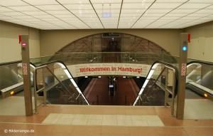S-Bahnhof Airport Hamburg, Rolltreppe