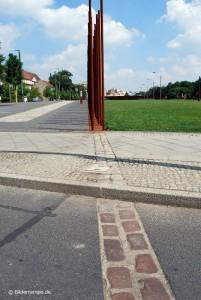 Mauerverlauf in der Bernauer Straße