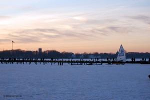 Sonnenuntergang über der Eisfläche