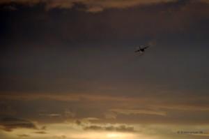 Flugzeug nach dem Start