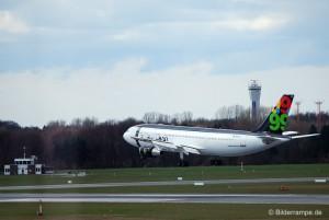 Afriqiyah A300B4-620 im Landeanflug
