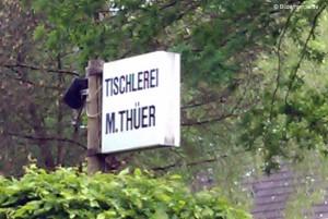 Tischler Firmenschild