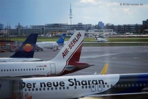 Flugzeuge von Thomas Cook, Hamburg International, Airberlin und TUIfly