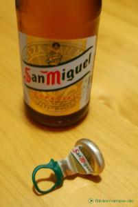 Bierflasche ist offen