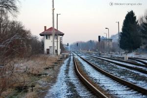 Gleise und Weichen an der ehemaligen GÜST Ellrich-Walkenried