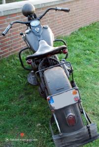 Alte Harley, völlig verschmutzt