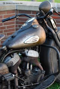 Harley Davidson mit Schmutzschicht