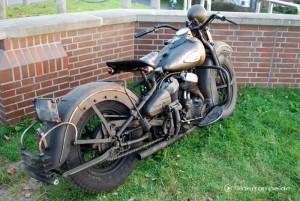 verdreckte Harley