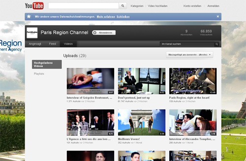 Web TV Paris Region Channel