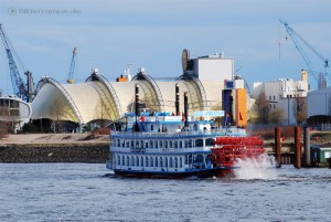 Mississippi Dampfer auf Hafenrundfahrt