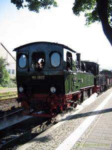 Harzer Schmalspurbahn am Bahnhof Wernigerode