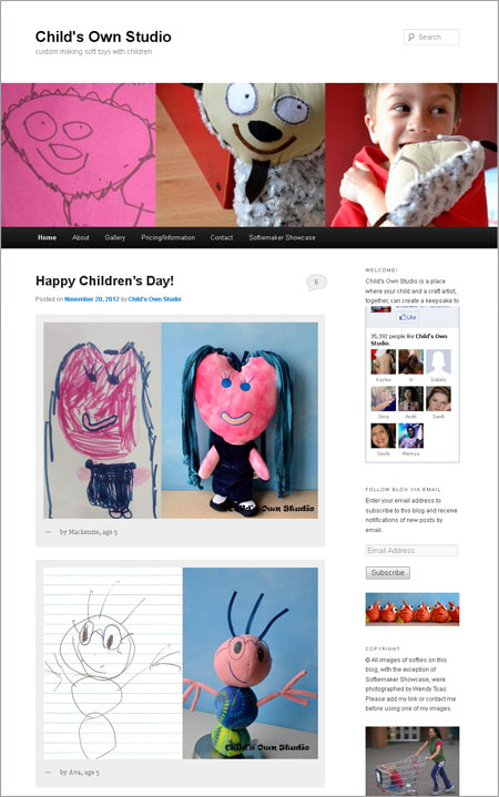 Homepage von Child's Own Studio