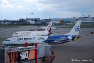 SharanAIR auf dem Flughafen Hamburg