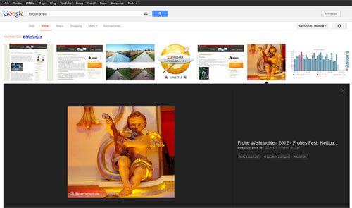 Neue Anzeigeart in der Google Bildersuche
