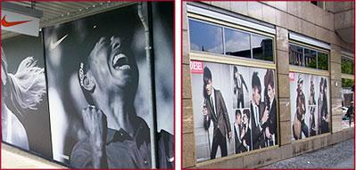 Fensterfolie als Sichtschutz beim Umbau