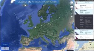 Dreamliner Flight Tracker - Übersichtskarte