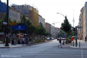 Die wieder freie Bernauer Straße