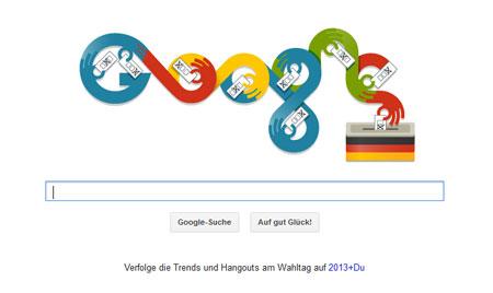 Google Doodle zur Wahl