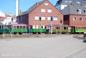 Historische Wagen der Borkumer Kleinbahn