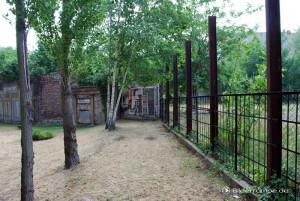 Stahlträger der Hinterlandmauer