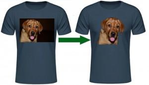 Fotobearbeitung für Shirtdruck