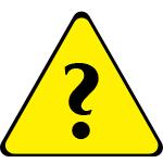 Gelbes Dreieck mit Fragezeichen