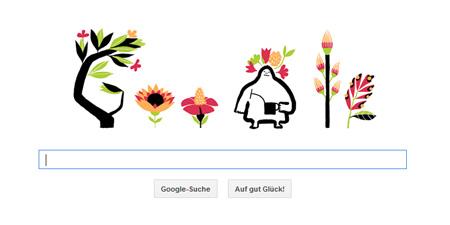 Google Doodle zum Frühlingsanfang