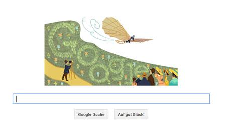 Google Doodle für Otto Lilienthal
