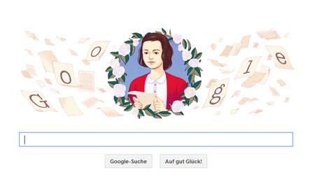 Google Doodle Sophie Scholl
