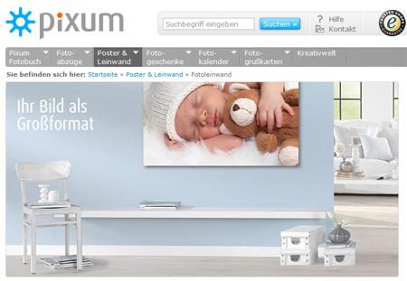 Homepage Pixum