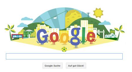 Google Doodle zur WM in Brasilien