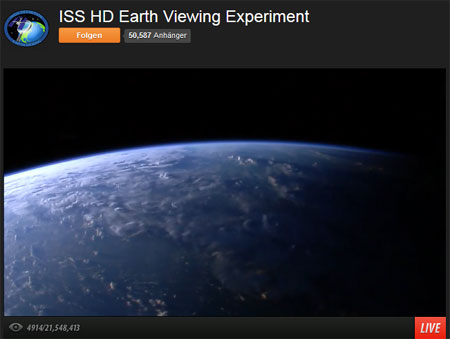 "Screenshot ""ISS HD Earth Viewing Experiment"""