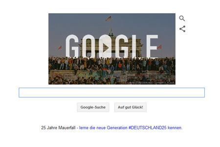 Google Doodle zum Mauerfall