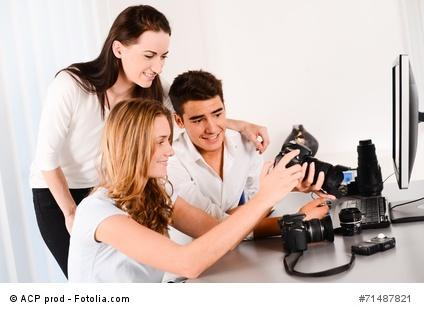 Teilnehmer eines Fotokurses