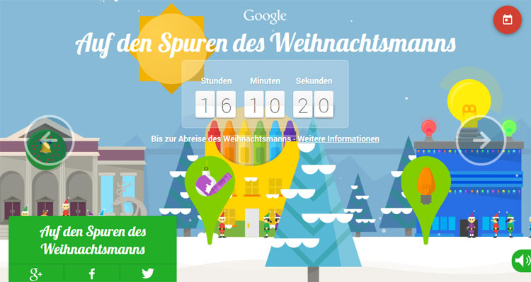 Google Weihnachtsdorf