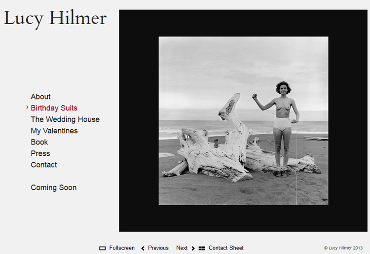 Screenshot Homepage Lucy Hilmer