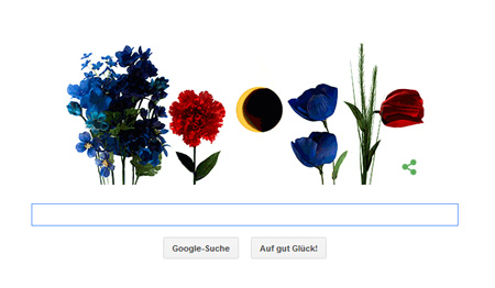 Google Doodle zur Sofi und zum Frühling