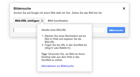 Google Bildersuche URL-Anleitung