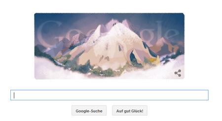 Google Doodle zur Erstbesteigung des Mont Blanc