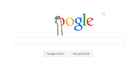 Das alte Google Logo wird weggewischt